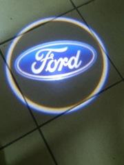 Подсветка в двери 3D с логотипом марки автомобиля. Toyota ,  Nissan,  Mazda,  Honda,  Ford,  Hyndai,  M.Benz,  BMW.